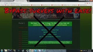 How to bypass surveys tutorial!