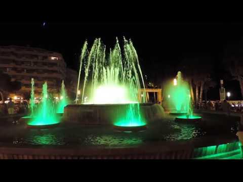 Каскадный музыкальный фонтан