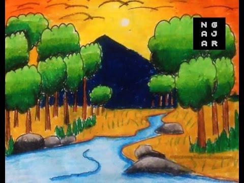 Mewarnai Awan Sore Dengan Crayon Gradasi Youtube