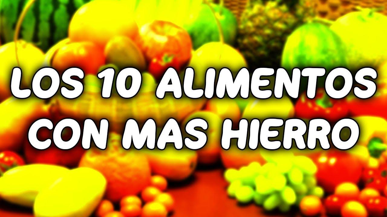alimentos que contengan mayor cantidad de hierro