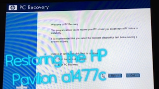 Using the HP Pavilion a1477c Recovery Partition | By Request