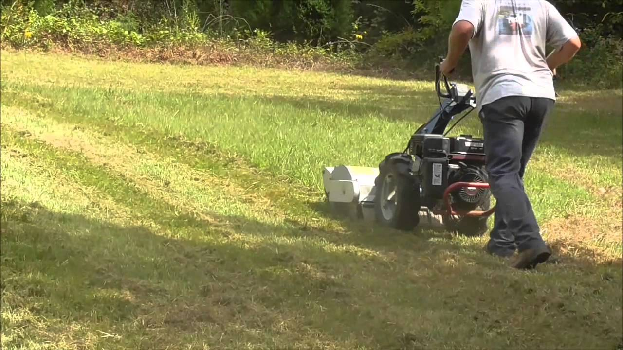 BCS walk-behind Tractor - Lawn mowing with flail mower