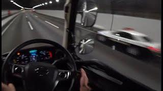 漏れそうな運転手たち 大型トラック目線