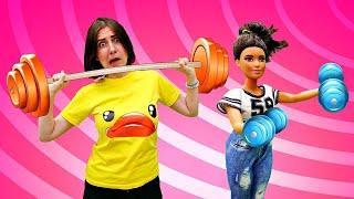 Тереза нашла НОВУЮ ЛЮБОВЬ - Худеем в спортзале. Сериал с куклами Барби. Я не хочу в школу 15