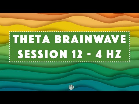 12hz - 4hz Binaural Beats Session - 1 hour Meditation Music Relax Mind Body with White Noise