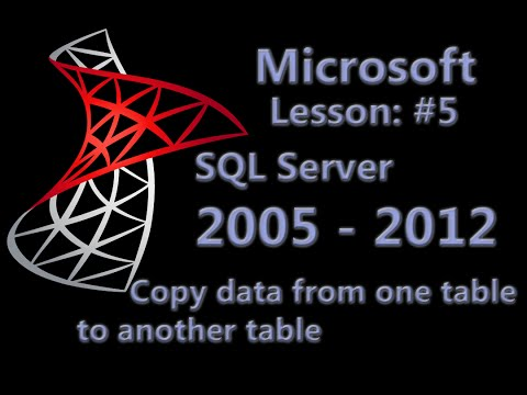 Microsoft SQL Server - Copy data from one table to another table