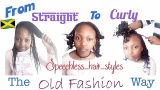 From Straight To Curly _ The Old Fashion Way