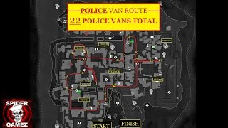 Dying Light Police Van Route/Locations, Old Town GOLD WEAPONS HUNTING