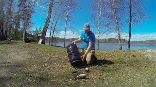 Открытие летнего сезона Рыбалка Озеро Доронькино Челябинская область Отдых на природе