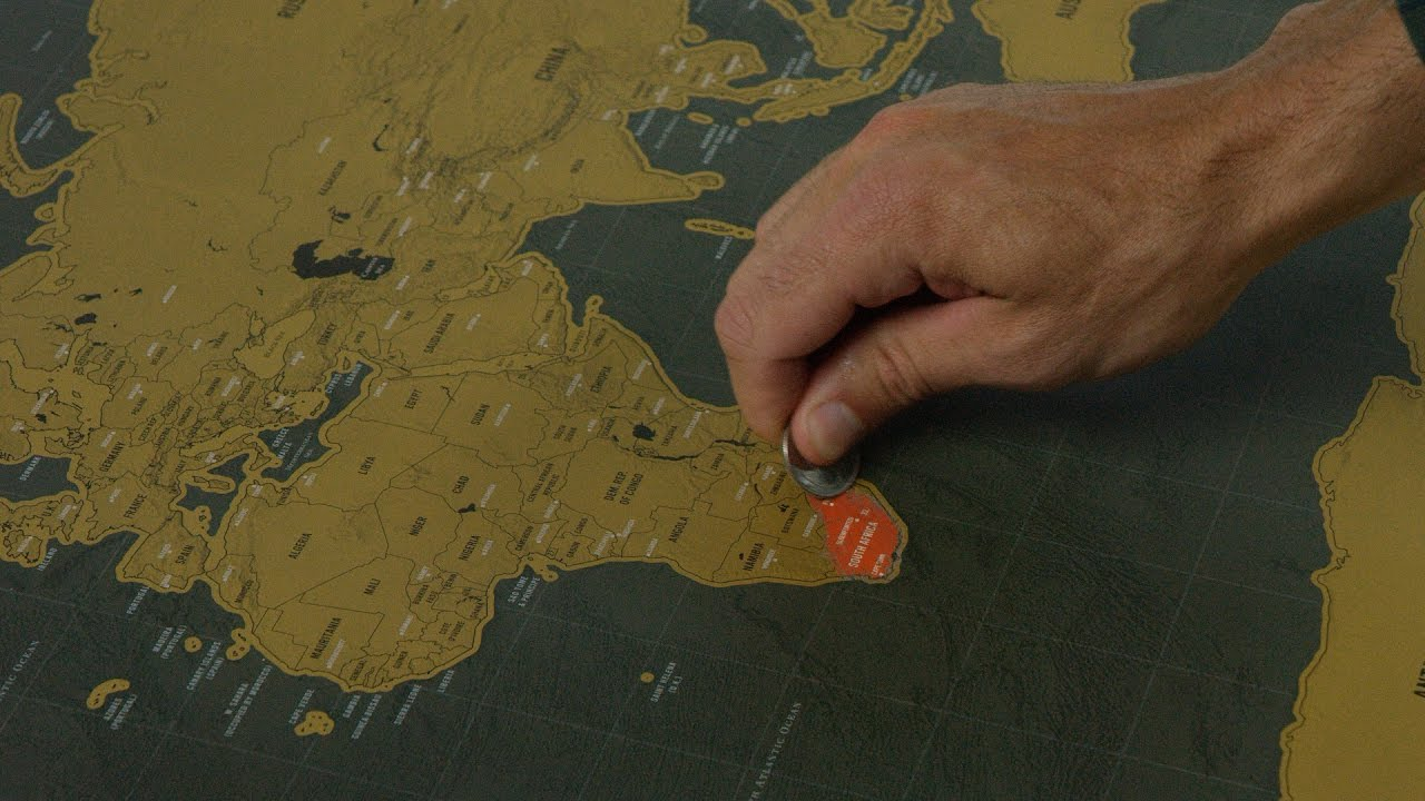 Deluxe Large Scratchoff World Map