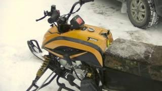 IRBIS Dingo T125 c карбюратором 26мм.  Первый запуск на улице