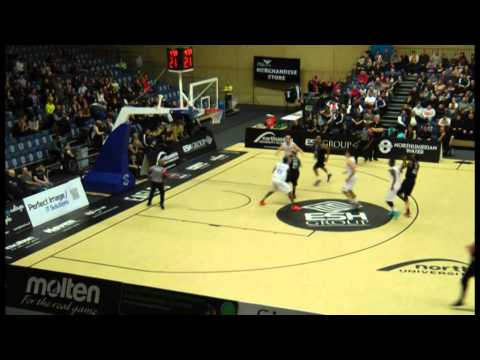 Jamal Williams (14 in WHITE) Worcester Wolves vs. Newcastle - Part 2