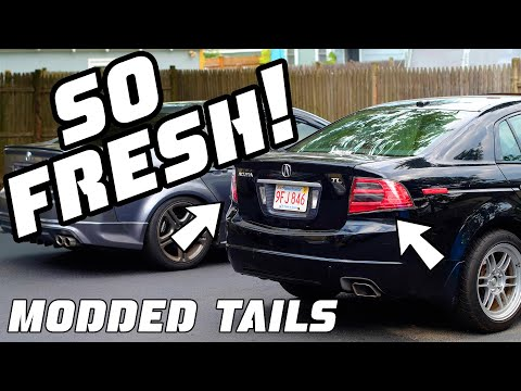 These Tail Lights are SO FRESH!!  (How to Install/Remove Acura TL Tail Lights)