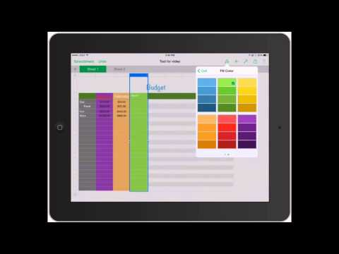 Numbers for iPad: Working with Rows and Columns in Spreadsheets on iPad