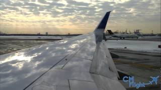 United Airlines Taxi and Takeoff Newark Intl Airport   4K
