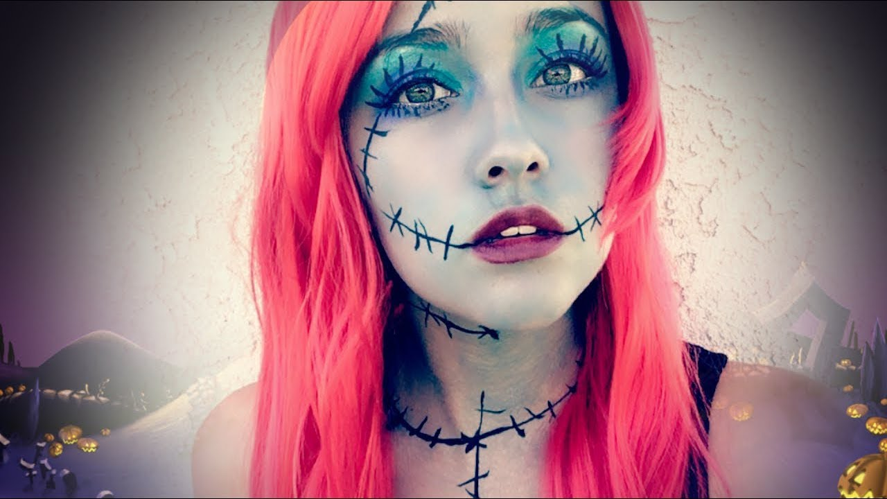 Easy Sally Makeup (The Nightmare Before Christmas) ♥ - YouTube