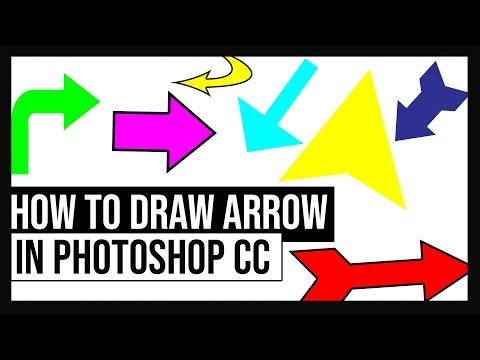 How To Draw Arrows In Photoshop CC On PC & Mac [ 2018 New Method ]