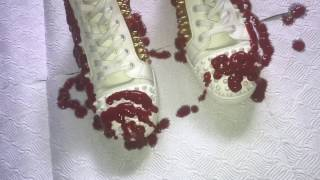 pouring ketchup on my 875 louboutins