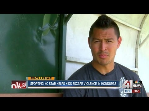 Sporting Kansas City Midfielder Roger Espinoza visits Honduras, inspires hope