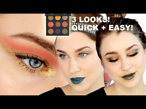 KYLIE COSMETICS HALLOWEEN PALETTE- 3 EASY LOOKS! | Beauty Banter