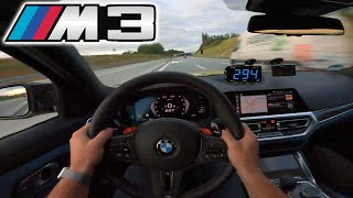 BMW M3 (G80) Competition | TOP SPEED & 100-200 km/h on Autobahn✔