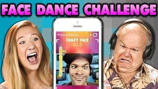 CRAZY FACE DANCE CHALLENGE! (React: Gaming)