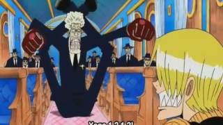 One piece   sanji vs jerry of cp6 in water 7 ! eng sub