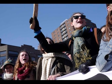 Students take to the streets of Montreal