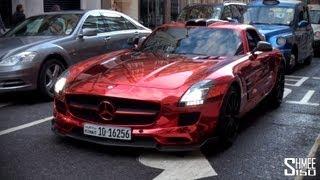 RED CHROME Custom Mercedes SLS AMG from Kuwait