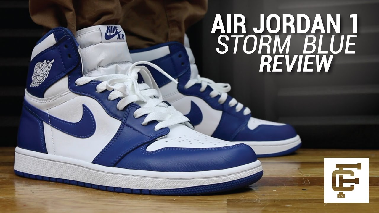2b698009bb57 AIR JORDAN 1 STORM BLUE REVIEW - YouTube