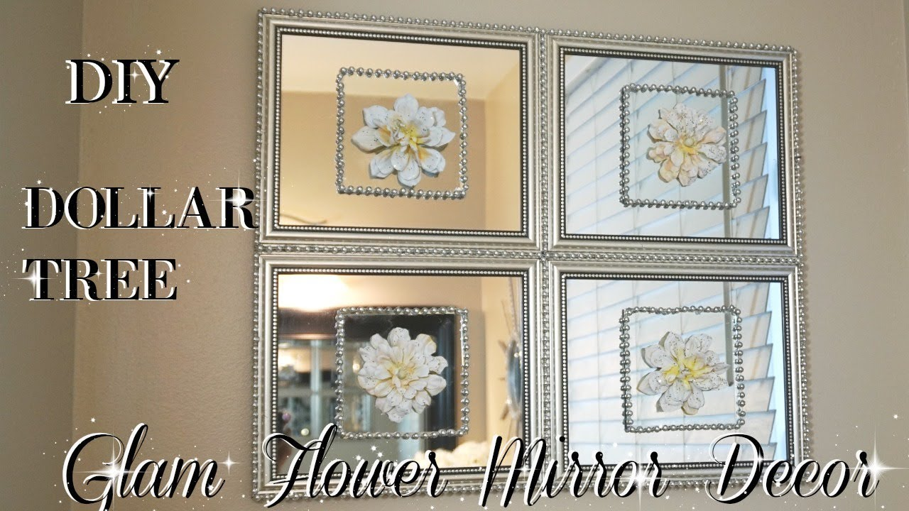 Diy Dollar Tree Mirror Decor With Flowers Quick Easy Inexpensive