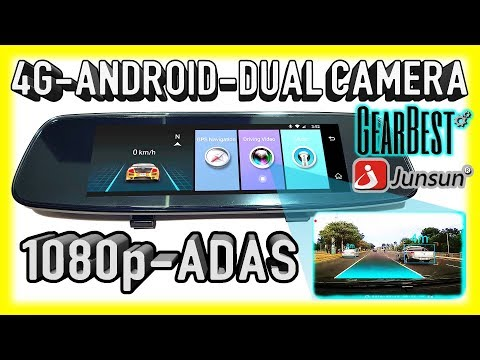 NEW 4G Android Dual Camera ADAS 1080p Mirror Car DVR for 2018 - Junsun A880