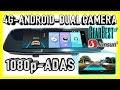 NEW 4G Android Dual Camera ADAS 1080p Mirror Car DVR for 2018 - Junsun A880