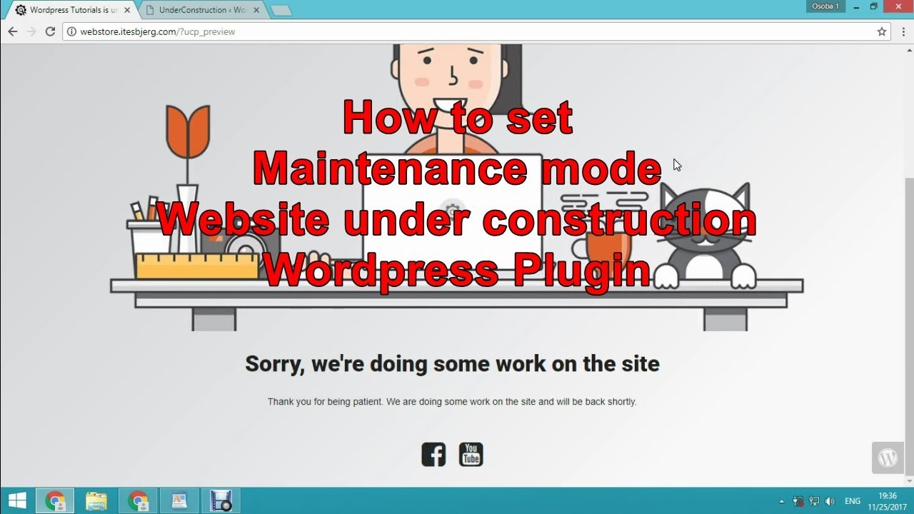 How To Set Maintenance Mode Website Under Construction Wordpress