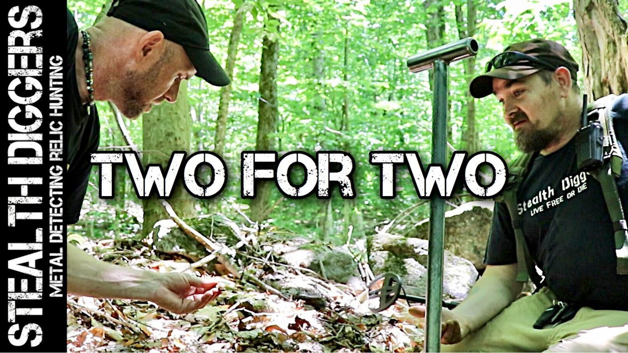 Two for Two metal detecting cellars & coin giveaway NH exploring woods metal detector