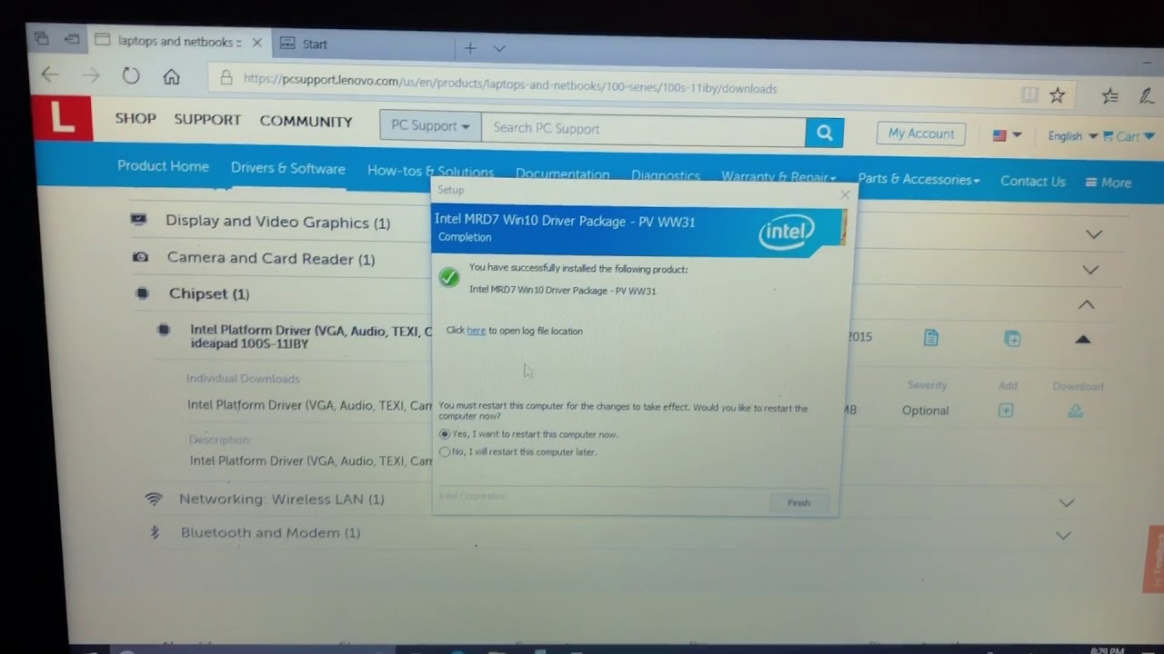 Lenovo IdeaPad 100S 11IBY TouchPad/Keyboard Not Working FIX/Solution