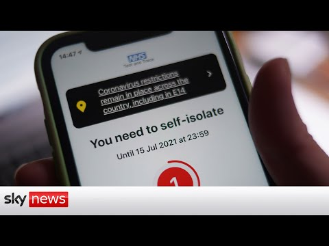 Over 600,000 people told to isolate by NHS app