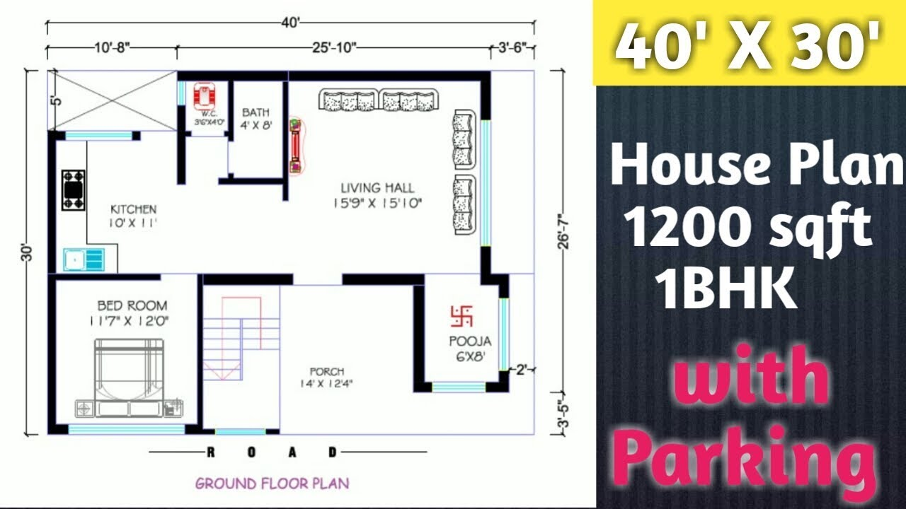 Featured image of post 40 X 30 House Plans - Latest house map or plans designed by expert designers.