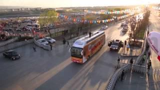 Ak parti Ankara mitingi hava çekimi kamera arkası / Turkoflycam