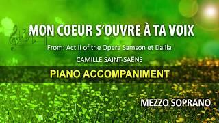Mon coeur s'ouvre à ta voix / Saint Saëns: Karaoke + Score guide / Mezzo soprano