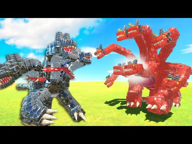 The NEW 8 HEADED HYDRA vs CERBERUS - Animal Revolt Battle Simulator