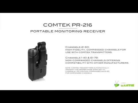 Comtek PR-216 Getting To Know Your Receiver