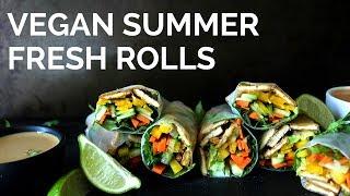 Vegan Fresh Rolls w/ Peanut Sauce | Two Market Girls