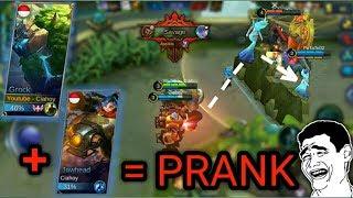 NGAKAK | PRANK temen satu tim pakai hero GROCK + JAWHEAD sampai musuh SAVAGE | Mobile Legends