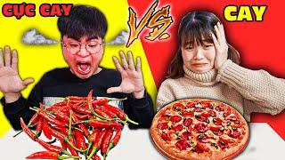 Trận Chiến Ăn Đồ Ăn Cay Với Đồ Ăn Siêu Cay - Thử Thách Đồ Ăn - Ai Sẽ Phải ĂN Pizza Ớt ? Hà Sam TV