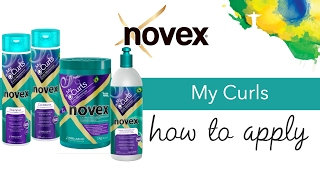 Novex My Curls - How to apply