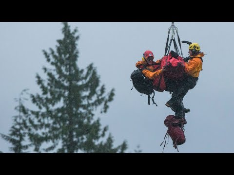 Dogwalker rescued after massive search of B.C. backcountry