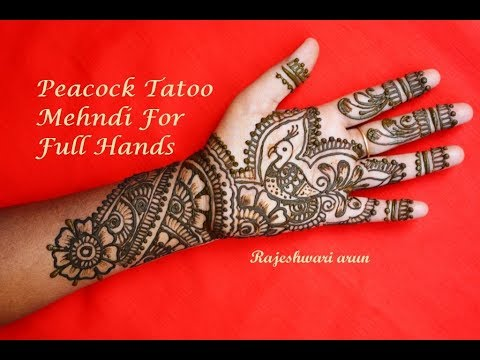 Beautiful Bridal Mehndi Design For Full Hands Simple Peacock Tatoo Mehndi Designs For Beginners