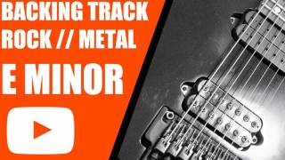 E Minor Guitar Backing Track // Rock / Metal / 160BPM // 7 String
