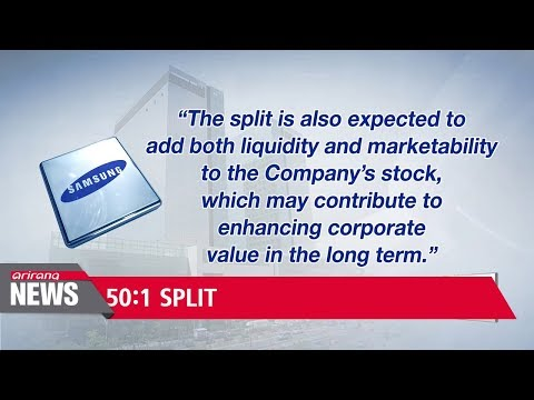 Samsung Electronics to split stock by 50:1